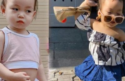 """""""Tan chảy"""" với biểu cảm đáng yêu của con gái bà chủ Thế giới Nội y"""
